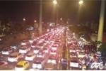 Vừa thông xe, đường nội ô lớn nhất TP.HCM 'tê liệt' vì kẹt xe