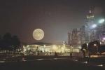 Siêu trăng đẹp ngỡ ngàng đi qua các nước châu Á