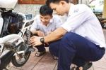 Thiết bị hiển thị và giới hạn tốc độ xe đạp điện của hai nam sinh Quảng Ngãi