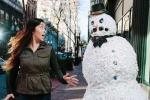 'Người Tuyết' khủng bố người đi đường trên phố