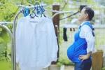 Quan chức Nhật Bản thử cảm giác mang bầu