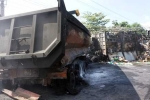 Bé gái 3 tuổi chết thương tâm trong chiếc xe cháy rụi