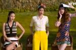 Video: Hà Hồ, Phạm Hương hướng dẫn Mây Trắng thi 'The Face' cực hài hước