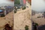 Kinh hoàng cảnh lũ cuồn cuộn như 'tận thế' ở Trung Quốc sau siêu bão