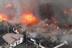 Hỏa hoạn khủng khiếp thiêu rụi hàng trăm tòa nhà ở Nhật Bản