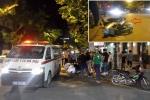 Xe cứu thương vượt đèn đỏ, gây tai nạn rồi bỏ chạy trên phố Hà Nội