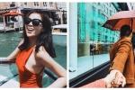 Hoa hậu Kỳ Duyên tung tăng dạo chơi Italia với bạn trai đại gia
