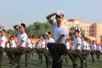 Sinh viên Học viện An ninh biểu diễn võ thuật, đánh trống hội trong lễ khai giảng