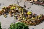 Chiêm ngưỡng đường hoa Nguyễn Huệ từ flycam