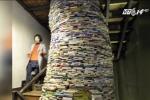 Mẹ làm tháp sách 10.000 cuốn phản đối con học nhiều