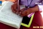 Kỳ lạ ngôi trường tất cả học sinh đều viết bằng 2 tay