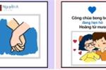Bộ ảnh sự khác biệt giữa tình yêu người lớn và trẻ con gây 'sốt'