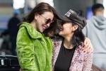Trà Ngọc Hằng xuất hiện rạng rỡ cùng Milan Phạm tại sân bay