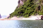 Công trường khai thác đá trên vịnh Hạ Long: Quảng Ninh chỉ đạo làm rõ