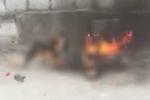 Người phụ nữ nghi tẩm xăng tự thiêu ở Hưng Yên