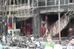 Hiện trường hoang tàn sau vụ cháy quán karaoke khiến 13 người thiệt mạng