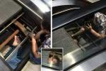 Clip: Nam công nhân bị thang cuốn 'nuốt chửng' khi đang sửa chữa