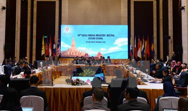 Thong qua Tuyen bo chung ASEAN-Trung Quoc ve thuc hien DOC hinh anh 1