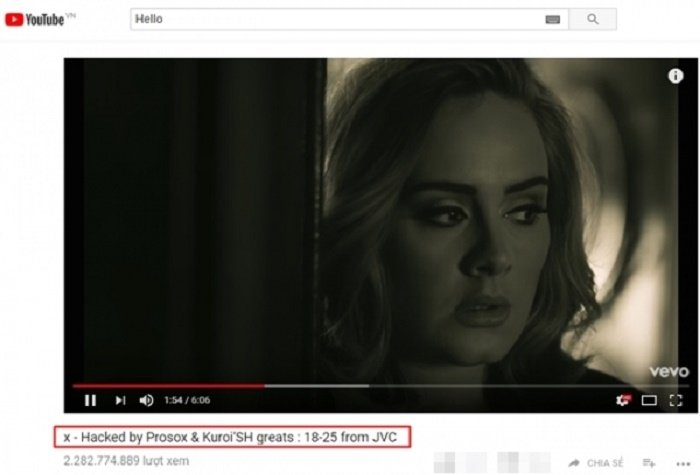 Hacker tra lai loat MV ty luot xem tren Youtube cho loat sao US – UK hinh anh 2