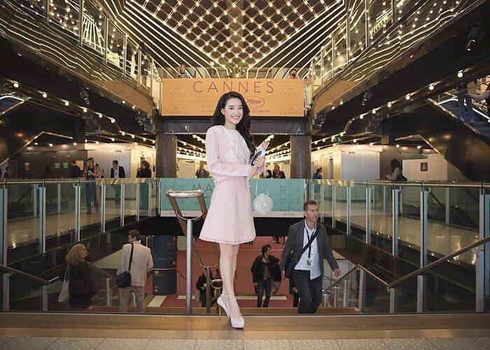 Nha Phuong dien ao dai truyen thong tham du hoi thao tai Cannes hinh anh 3