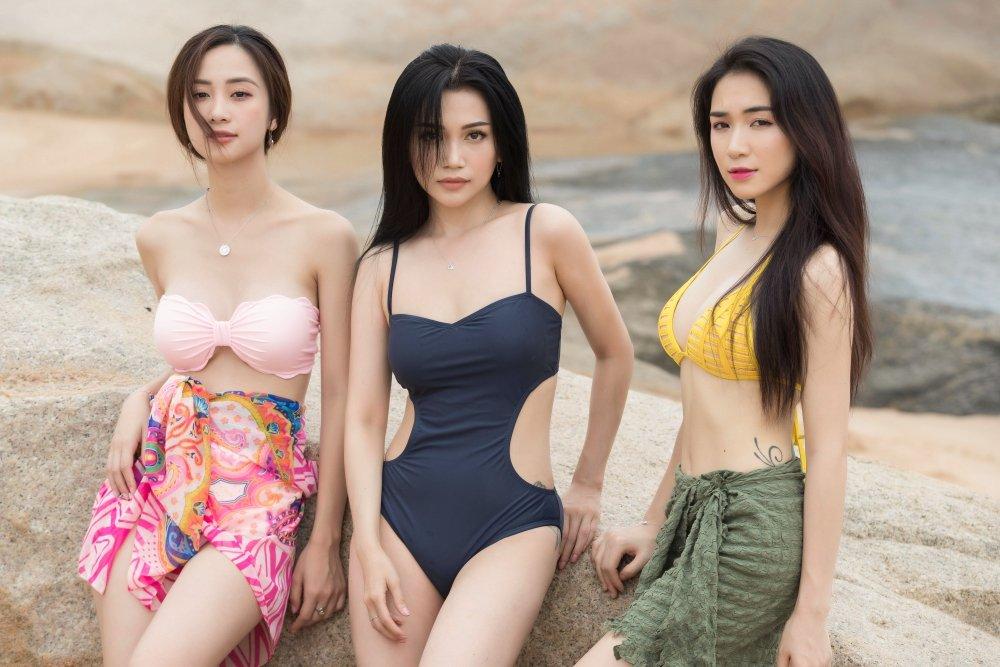 Hoa Minzy – Jun Vu cung Sy Thanh dien bikini, khoe dang quyen ru tren bien hinh anh 1