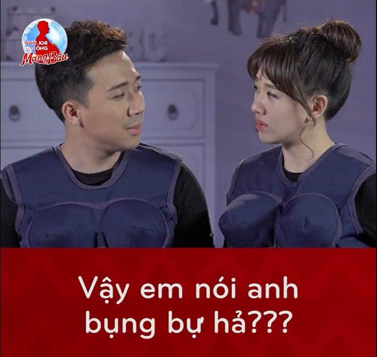 Loat khoanh khac hai huoc cua Tran Thanh - Hari Won tai 'Khi dan ong mang bau' hinh anh 1