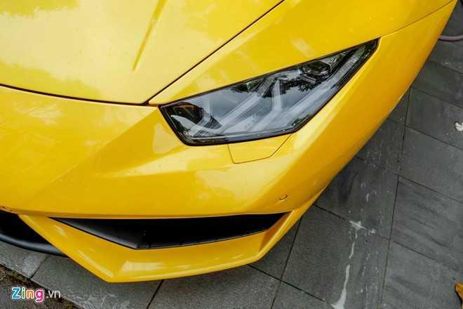 Sieu xe Lamborghini Huracan mau vang doc truoc nha Cuong Dola hinh anh 6