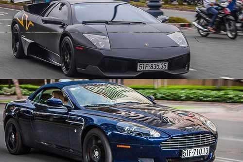 Bo doi sieu xe Aston Martin va Lamborghini 'hen ho' tai Sai Gon hinh anh 1