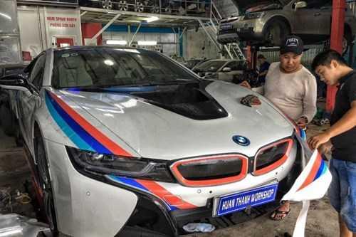 Dan choi Da Nang do tem dau cho sieu xe BMW i8 hinh anh 1