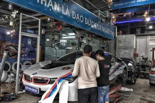 Dan choi Da Nang do tem dau cho sieu xe BMW i8 hinh anh 2