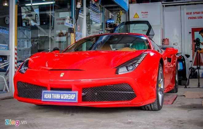 Sieu xe Ferrari 488 GTB tai Da Nang len goi do hang hieu hinh anh 1