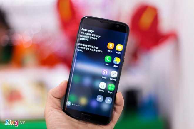 Ngam Samsung Galaxy S7 edge mau den bong dau tien tai Viet Nam hinh anh 14