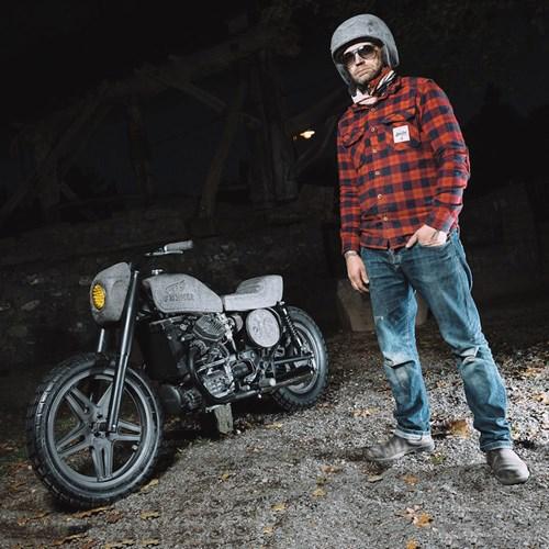 Ngam 'hang hiem' moto Honda CX500 do 100% tu da bazan hinh anh 2