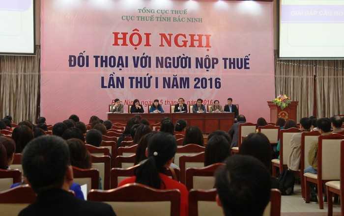 Cuc Thue tinh Bac Ninh to chuc doi thoai voi doanh nghiep hinh anh 1