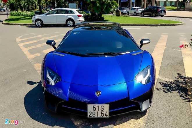 Minh Nhua dao pho Sai Gon bang sieu xe Lamborghini Aventador 35 ty hinh anh 1