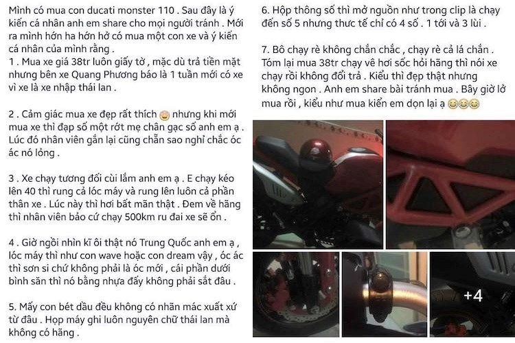 Dan choi Sai Gon 'khoc thet' voi Ducati Monster 110 rom gia 30 trieu dong hinh anh 6