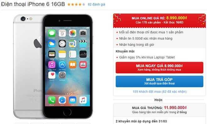 iPhone 6 16 GB giam gia 3 trieu dong, don ban 32 GB hinh anh 1