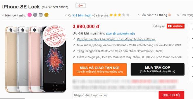 iPhone SE ve Viet Nam gia 4 trieu dong bat dau hut khach hinh anh 1