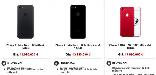 iPhone 7 gia re do bo thi truong Viet Nam hinh anh 1