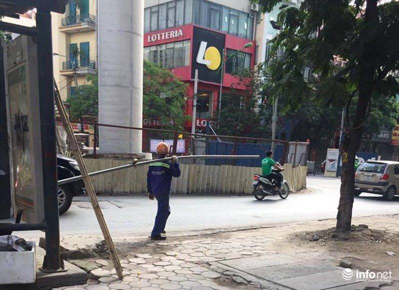 Thanh sat dai 3m roi tu cong truong duong sat tren cao Nhon - Ga Ha Noi hinh anh 1