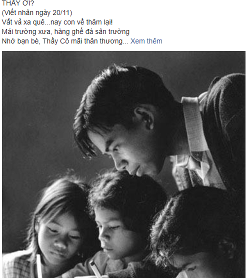 Xuc dong bai tho 'Thay oi' tang nguoi thay da khuat nhan ngay Nha giao Viet Nam 20/11 hinh anh 1
