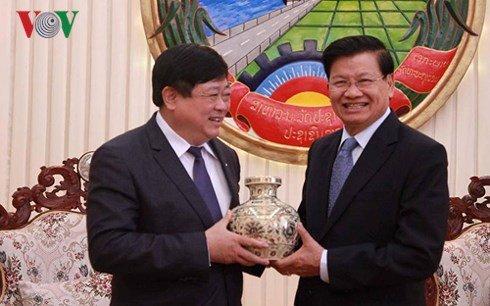 Lanh dao Lao danh gia cao vai tro vi tri cua Dai Tieng Noi Viet Nam hinh anh 2