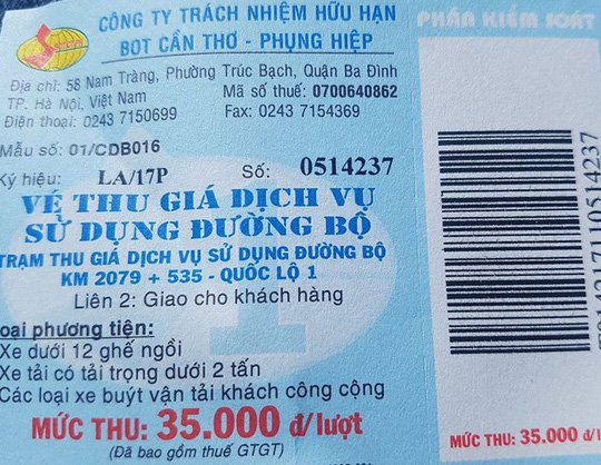 BOT Can Tho – Phung Hiep chua giam gia ve vi… chua kip in ve hinh anh 1