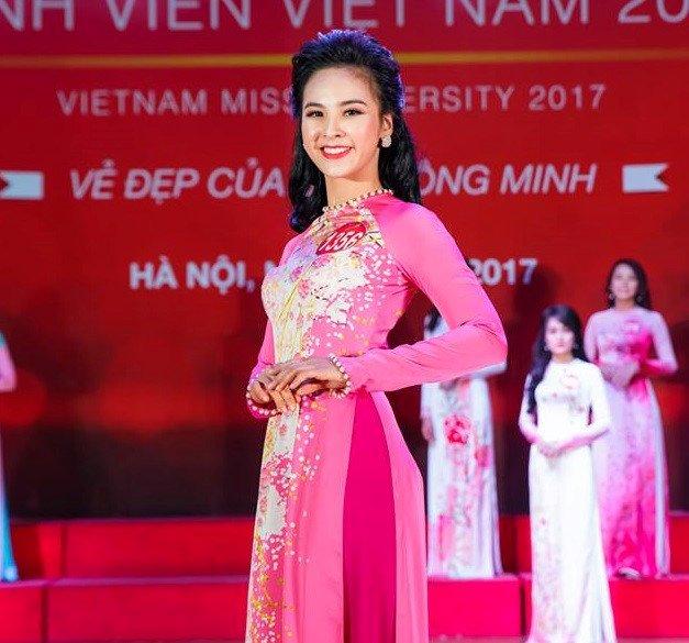 Nhan sac van nguoi me cua 9X gianh 2 giai phu cuoc thi 'Hoa khoi Sinh vien Viet Nam 2017' hinh anh 1