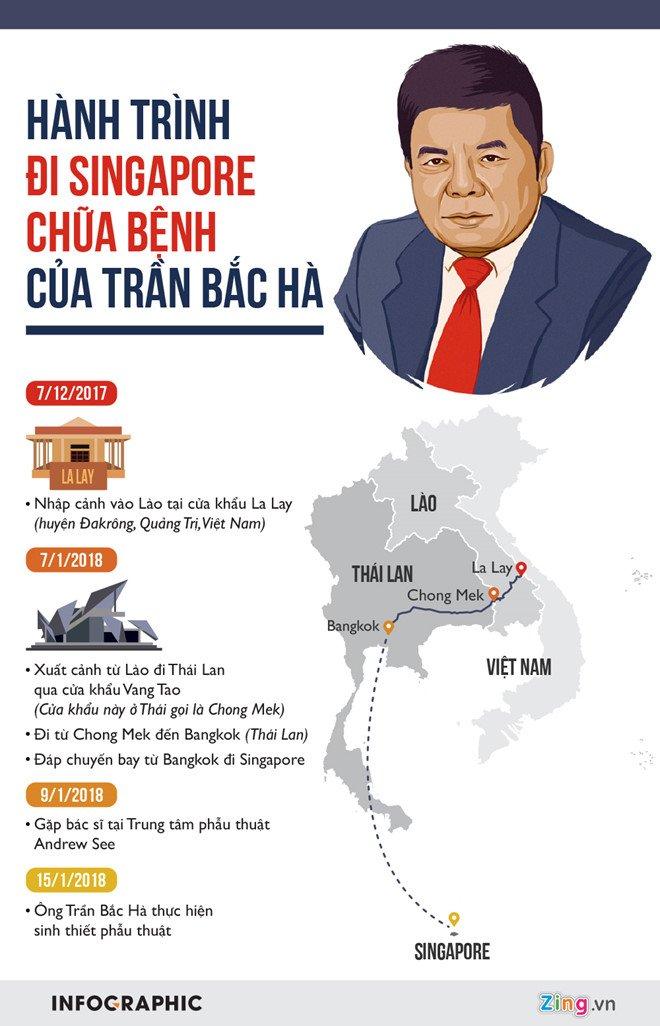 Ong Tran Bac Ha di Singapore chua benh bang duong nao? hinh anh 1
