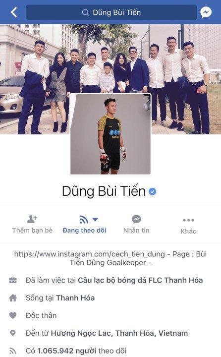 Facebook thu mon Bui Tien Dung vuot moc mot trieu follow hinh anh 2