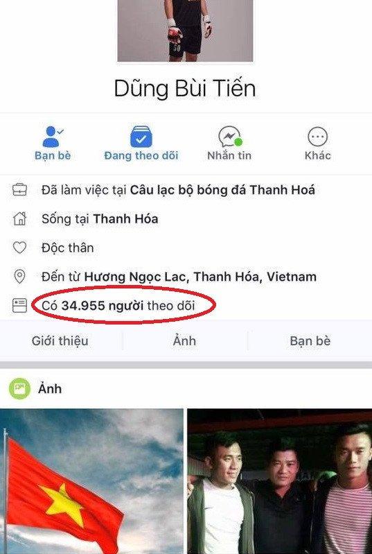 Facebook thu mon Bui Tien Dung vuot moc mot trieu follow hinh anh 1