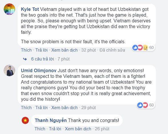 Dan mang Uzbekistan kham phuc tinh than chien dau qua cam cua U23 Viet Nam hinh anh 1