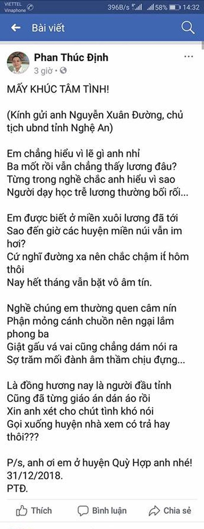 Thay giao lam tho cham luong, Chu tich tinh Nghe An lap tuc phan hoi hinh anh 2
