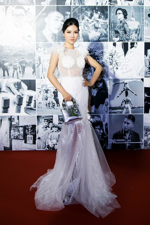 Hoa hau Tuyet Nhung goi cam tren tham do WeChoice Awards 2017 hinh anh 3